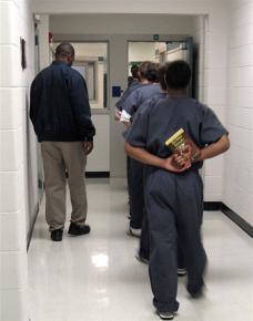 Young men in a Kentucky juvenile detention center
