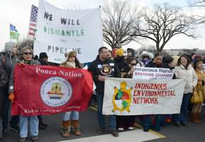 Native resistance mobilized for a demonstration in Washington, D.C., against the Keystone XL pipeline