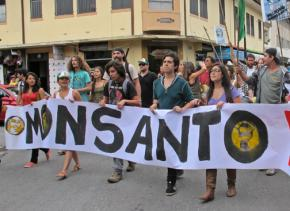 Marching against Monsanto in San José, Costa Rica