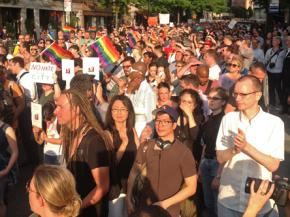 Thousands of people marched in memory of a hate crime victim in New York