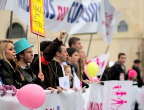 Anti-equality bigots on the march through Paris