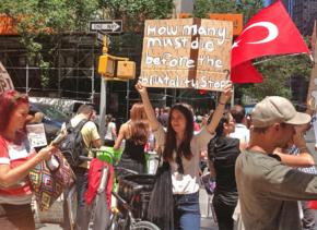 New York City activists march in solidarity with the mass protests in Turkey