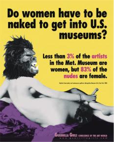 The Guerrilla Girls poster, 1989