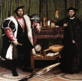 Hans Holbien's The Ambassadors, 1553: Two early bourgeois and their spoils