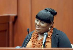 Rachel Jeantel on the witness stand