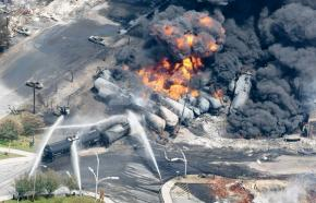 A 72-car train carrying petroleum products obliterated parts of the town of Lac Mégantic in Quebec