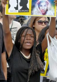 Marching against racial profiling and the murder of Trayvon Martin in Houston