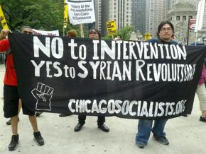 Chicago activists march against the threat of a U.S. attack on Syria