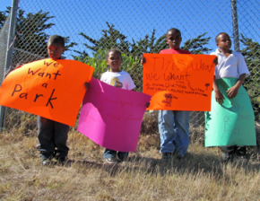Protesting for a park in Bayview-Hunters Point
