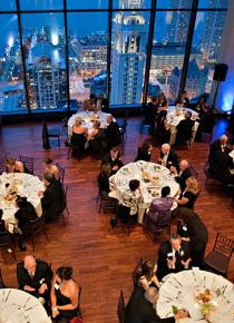 Dining above the city in Boston