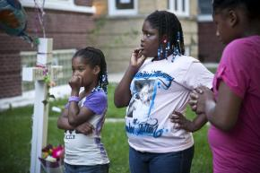 Friends mourn Heaven Sutton, a 7-year-old victim of gun violence