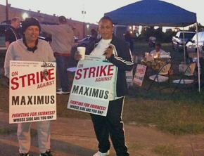 On the picket line at Maximus Coffee
