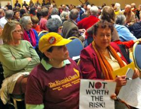 A public hearing on the future of Indian Point nuclear plant in Tarrytown, N.Y.
