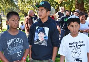 Demonstrations demanding justice for Andy Lopez have grown as large as 1,000 people