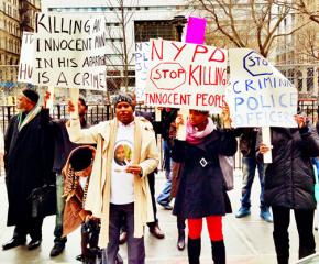 New Yorkers gather in protest against the police murder of Mohamed Bah