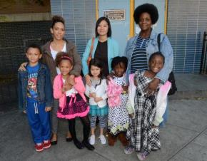 Some of the Castle Bridge parents and students who won the cancellation of standardized tests