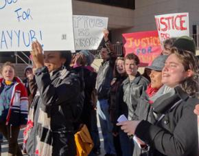 Community members rally for Justice for Ayyub