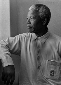 Nelson Mandela incarcerated on Robben Island