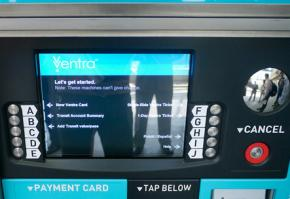 One Chicago's new Ventra transit fare machines