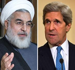 Hassan Rouhani and John Kerry