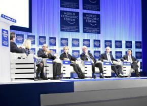 Meeting in Davos, Switzerland, for the 2014 World Economic Forum
