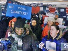Chicagoans rally against new charter schools ahead of a Board of Education vote