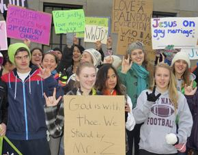 Students rally support for Mark Zmuda