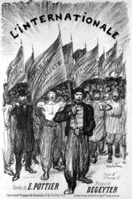 """Cover to sheet music of """"The Internationale"""""""