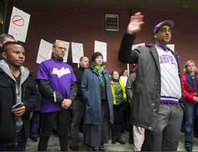 Seattle teachers gathered at a protest against high-stakes standardized testing