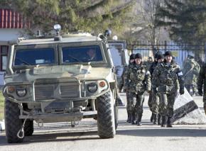 Russian troops in Crimea