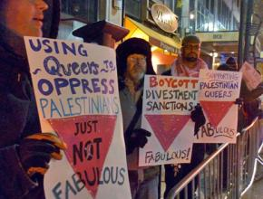 Protesters take a stand against pinkwashing Israeli apartheid