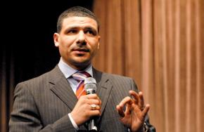 Dr. Steve Perry, the principal of Capital Prep High School