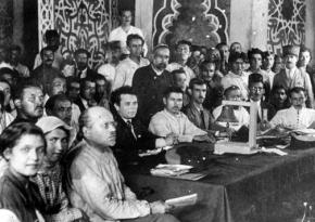 Participants in the Baku Congress of the Peoples of the East in 1920
