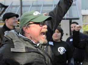 CCTA bus drivers celebrate the end of a successful strike