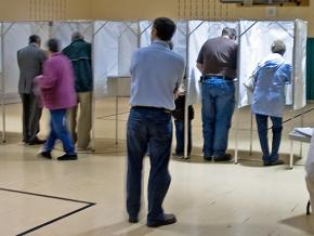 Voters cast their ballots