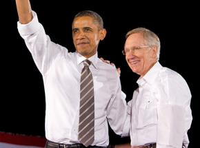 Barack Obama and Harry Reid