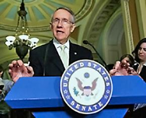 Senate Majority Leader Harry Reid announces his plan to attach the DREAM Act to the a military spending bill