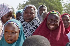Mothers marching in Nigeria against government inaction after the abductions