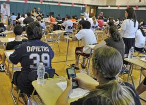 Students prepare to take the Regents exam
