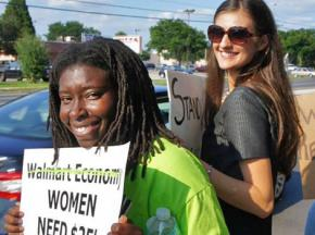 Walmart moms demanding a living wage in Tampa, Fla.