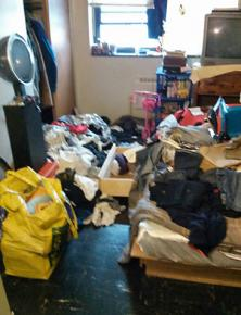 Police left behind a trashed room in Nikole Gellineau's home