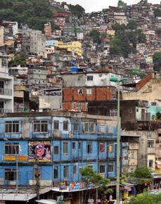 Favela da Rocinha in Rio de Janeiro