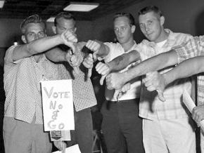 Members of the IAM rejected a contract recommended by union leaders, leading to a 1966 strike