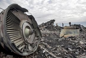 Wreckage of the Malaysian Airlines plane shot down over Ukraine