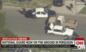 CNN remembered back to a 1997 bank robbery to champion police militarization