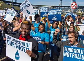 Participants in the Powershift conference march in Pittsburgh in 2013