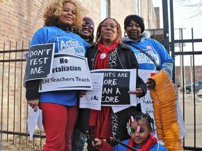 Education activists speak out against over-testing in Chicago