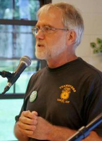 Green Party candidate Howie Hawkins campaigns for governor in New York