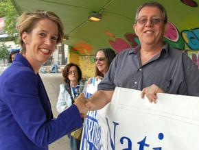 Zephyr Teachout on the campaign trail