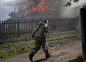 Fighting is intensifying in the eastern region of Ukraine